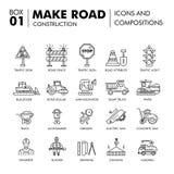 Composições modernas que constroem a linha bloco f da construção de estradas finamente Fotos de Stock
