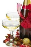 Composición 2013 del champán del Año Nuevo Imagen de archivo libre de regalías