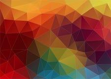 Composición abstracta con dimensiones de una variable geométricas stock de ilustración