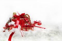 Composición abstracta de la Navidad Abstracción del invierno Imagen de archivo libre de regalías