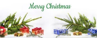 Composición abstracta de la Navidad Abstracción del invierno Foto de archivo libre de regalías
