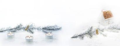 Composición abstracta de la Navidad Abstracción del invierno Foto de archivo