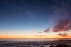 Composición abstracta de la puesta del sol y de nubes Fotografía de archivo libre de regalías