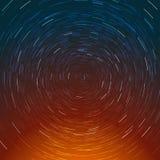 Composición abstracta de la trayectoria de las estrellas Imágenes de archivo libres de regalías