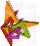 Composición abstracta de los módulos plásticos Fotografía de archivo libre de regalías