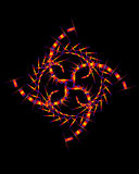 composición abstracta del Sin objetivo-color con una figura de neón del geometrica Foto de archivo