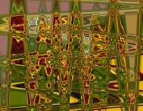 Composición abstracta en colores verdes, anaranjados, amarillos y marrones Fotografía de archivo