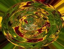 Composición abstracta en colores verdes, anaranjados, amarillos y marrones Fotos de archivo libres de regalías