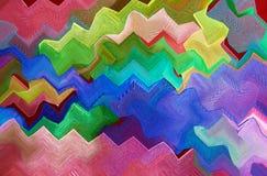 Composición abstracta en colores verdes, anaranjados, azules y rojos Imagenes de archivo
