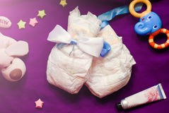 Composición abstracta para el niño recién nacido Foto de archivo libre de regalías