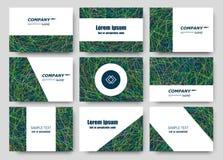 Composición abstracta, sistema de la tarjeta de visita, colección de la letra de la correspondencia, hoja del título del folleto, ilustración del vector