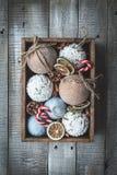 Composición acogedora de la Navidad de las vacaciones de invierno con el espacio para el texto fotografía de archivo libre de regalías