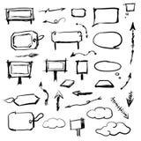Composición arquitectónica en un fondo blanco Foto de archivo libre de regalías