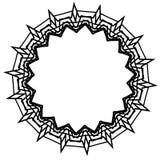 Composición artística nerviosa, al azar de formas geométricas libre illustration