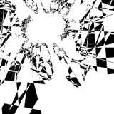 Composición artística nerviosa, al azar de formas geométricas stock de ilustración