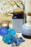 Composición azul de los floreros Imágenes de archivo libres de regalías