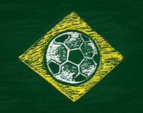 Composición brasileña marcada con tiza Fotografía de archivo libre de regalías