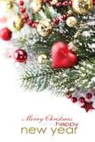 Composición brillante de la Navidad Foto de archivo libre de regalías