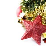 Composición brillante de la Navidad con las estrellas Foto de archivo libre de regalías