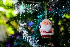 Composición brillante de la Navidad con Santa Claus Fotos de archivo libres de regalías