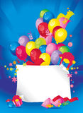 Composición brillante del día de fiesta de globos Fotos de archivo
