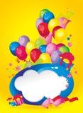 Composición brillante del día de fiesta de globos Imagenes de archivo