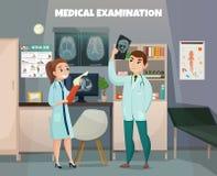 Composición clínica del laboratorio de pruebas stock de ilustración