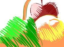 Composición colorida de las frutas Fotografía de archivo