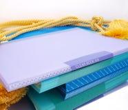 Composición colorida de los ficheros de la pila Fotografía de archivo
