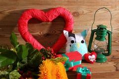 Composición con el corazón para todos los amantes Foto de archivo libre de regalías
