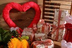 Composición con el corazón para todos los amantes Fotografía de archivo libre de regalías