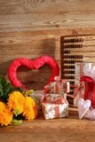 Composición con el corazón para todos los amantes Imagen de archivo libre de regalías