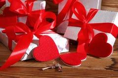 Composición con el corazón para todos los amantes Imágenes de archivo libres de regalías