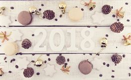 Composición con el número 2018 como símbolo del Año Nuevo que viene Foto de archivo libre de regalías