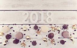 Composición con el número 2018 como símbolo del Año Nuevo que viene Imagen de archivo libre de regalías