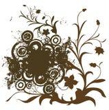Composición con las flores stock de ilustración