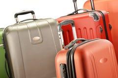 Composición con las maletas del policarbonato Imagen de archivo libre de regalías