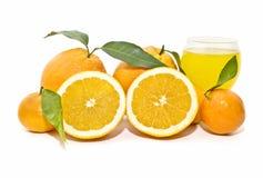 Composición con las naranjas Fotos de archivo libres de regalías