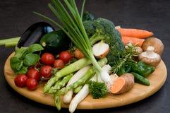 Composición con las verduras coloridas Foto de archivo libre de regalías
