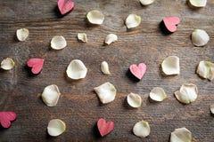 Composición con los corazones rosados Fotografía de archivo libre de regalías