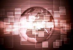 Composición de alta tecnología del mosaico del globo ilustración del vector