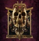 Composición de cobre del cráneo Foto de archivo
