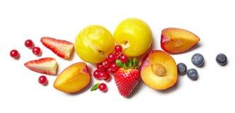 Composición de diversas frutas y bayas Fotos de archivo libres de regalías