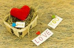 Composición de diversos corazones Muchos pequeños corazones Te amo Imagen de archivo