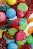 Composición de dulces coloreados Imagenes de archivo