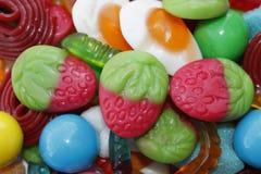 Composición de dulces coloreados Imagen de archivo libre de regalías
