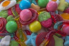Composición de dulces coloreados Fotografía de archivo libre de regalías