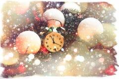 Composición de hadas de la Navidad de la cola Tarjeta de la postal por el Año Nuevo Imágenes de archivo libres de regalías