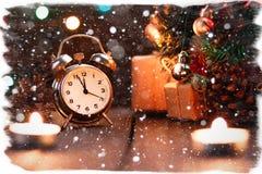 Composición de hadas de la Navidad Tarjeta de la postal por el Año Nuevo E Fotos de archivo