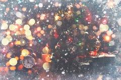 Composición de hadas de la Navidad Tarjeta de la postal por el Año Nuevo E Fotografía de archivo libre de regalías
